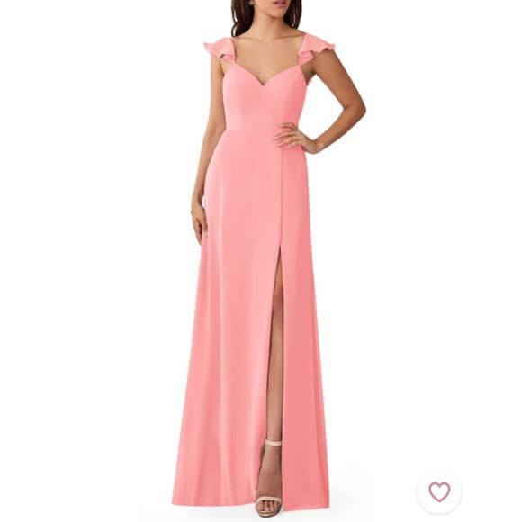 Azazie Prom Dress Bridesmaid Dress in Flamingo